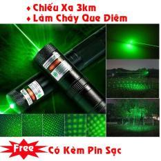 Đèn laser – bút laze lazer tia xanh / đỏ cực sáng công suất lớn chiếu xa 3km Tặng kèm Pin sạc bao gồm bộ sạc, có điều chỉnh hoa văn hiệu ứng ánh sáng