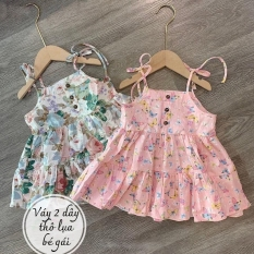 Váy cúc buộc vai cho bé gái QATE577
