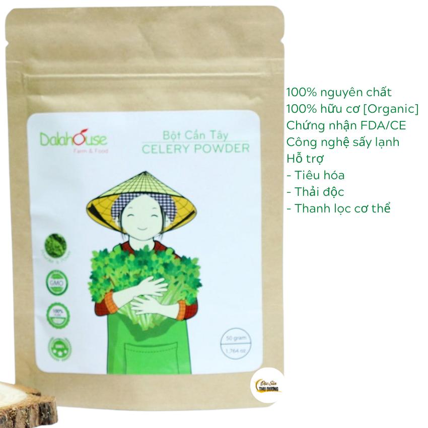 Bột cần tây organic nguyên chất Dalahouse – 50g – giảm cân giải độc – thực phẩm chức năng