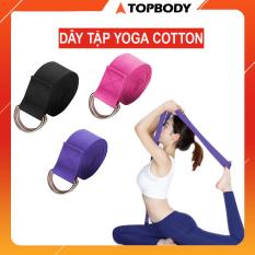 Dây tập Yoga Cotton bền bỉ 1,8mx3,8cm, hỗ trợ tập luyện Yoga tại nhà, văn phòng tiện dụng TOPBODY