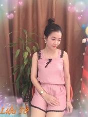 đồ bộ nữ, mẫu đùi 2 dây viền ren cực đẹp,vải kate lụa mềm, mát, thích hợp mặc nhà,hàng đủ màu như hình