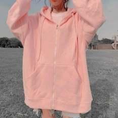 áo khoác nữ form rộng đi học, áo hoodie nữ có dây kéo form rộng – Thanh fashion