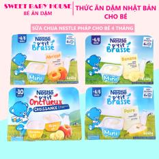 Lẻ 1 hộp – Sữa chua Nestle vị Táo Chuối nội địa Pháp – Sữa chua cho bé ăn dặm. Date 2021