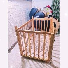 Cũi gỗ cho bé chắc chắn, nặng 20kg, kt 105x75x65 giá rẻ