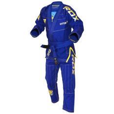 Quần áo võ thuật RDX BRAZILIAN JIU-JITSU SUIT BLUE -BJJ-S3U
