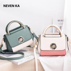 Túi xách nữ phối màu khóa cách điệu hình bông hoa thương hiệu NEVENKA N5631