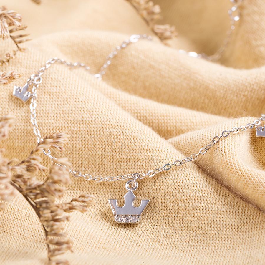 Lắc Chân Đep Bằng Bạc Cho Nữ LC1757 bảo ngọc jewelry