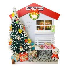 Mô Hình Gỗ DIY Noel Để Bàn – Cây Thông Giáng Sinh
