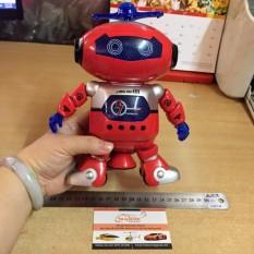 Đồ chơi robot có đèn có nhạc năng động nhảy múa xoay vòng 360 độ
