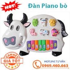 Đồ chơi đánh đàn cầm tay hình con bò sữa đáng yêu, dành cho cả bé trai và gái trên 1 tuổi phát triển khả năng nghe, biết tiếng kêu của các loài động vật như ếch, bò, chó, thiết kế vô cùng chắc chắn, chịu được va đập mạnh