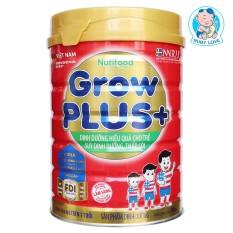 (DATE MỚI-2023) Sữa Bột Nutifood Grow plus+ đỏ Lon 900g (hỗ trợ cho trẻ trên 1 tuổi suy dinh dưỡng, thấp còi)