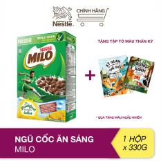 [Tặng tập tô màu thần kỳ] Ngũ cốc ăn sáng Milo (hộp 330g)
