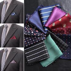 zbrtdr 1 người đàn ông Paisley Khăn tay cổ điển polka Dots sọc nam Hankies Business Pocket Square Suit Phụ kiện