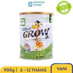 [GIẢM 30K CHO ĐƠN 399K] Sữa bột Abbott Grow 2 900g cho bé 6 – 12 tháng đủ dưỡng chất thiết yếu hỗ trợ sự phát triển toàn diện
