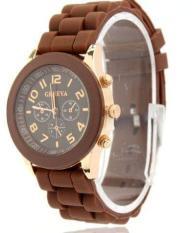 Đồng hồ nữ dây nhựa dẻo Geneva GN4 (Nâu)