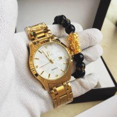 đồng hồ nam dây mạ vàng cao cấp,máy nhật,bảo hành 12 tháng ,tặng kèm vòng tay phong thủy