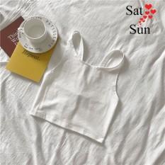 áo hai dây nữ chất thun cotton mát dễ phối đồ SatSun