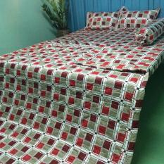 bộ drap phòng ngủ Thang Loi 1.6m*2m winter, kem men, in logo cty.