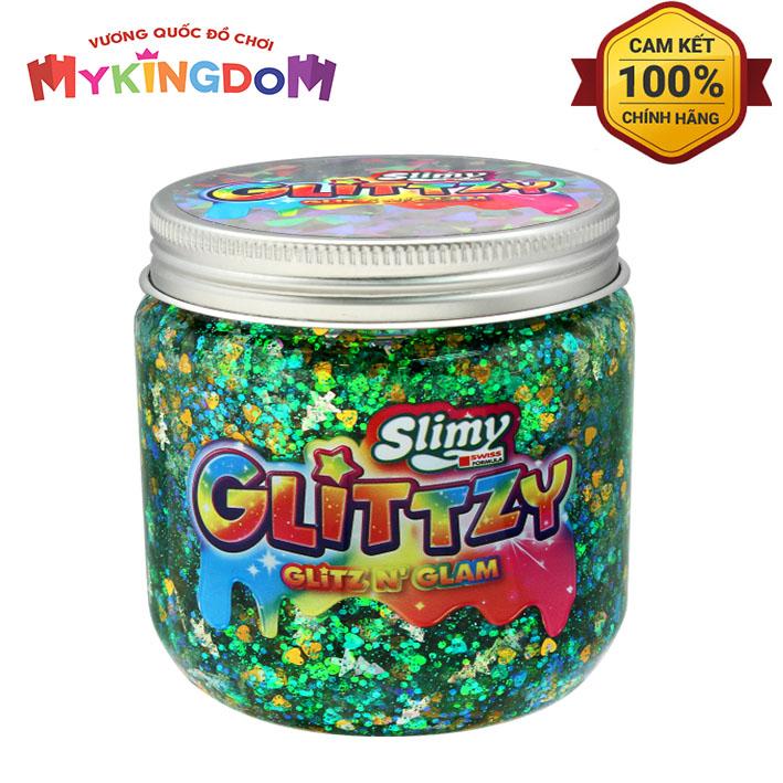 MY KINGDOM - Slime kim tuyến Fancy-xanh lá cây dịu mát Glittzy 34020/GR