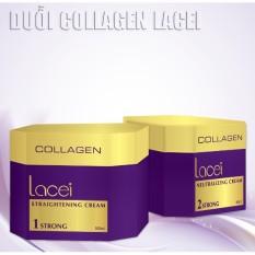 Thuốc duỗi tóc Collagen Lacei cao cấp siêu bóng mềm 500mlx2