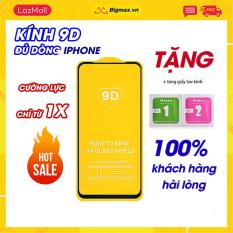 KÍNH CƯỜNG LỰC FULL MÀN 9D CAO CẤP CHO DÒNG IPHONE 6/6S, 6PLUS/ 6SPLUS, 7/ 8, 7PLUS/ 8PLUS, X/XS/ XSMAX, kinh cuong luc iphone – MÀU ĐEN, TRẮNG