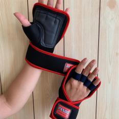 Găng tay tập gym hở mu có dây quấn Pando 5009