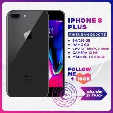 Điện thoại Apple iPhone 8 PLUS 256GB QUỐC TẾ 3GB RAM Hexa-core A11 Bionic Card Màn Hình 3 Nhân Màn Hình FULL HD Retina 5.5 inches 2 Camera Sau 12MP Selfie Cam 7MP Cao Cấp