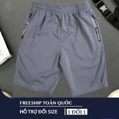 [Freeship – 04 Màu] Quần thể thao 2 túi kéo khoá vải thun lạnh dày đẹp 04 màu size từ 40-80kg – QSTT009