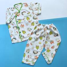 Pijama cho bé vải cotton hút mồ hôi hình Cáo hạt dẻ 10-40kg