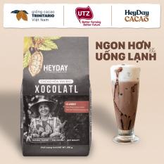 Bột cacao sữa 3in1 Xocolatl Classic – Túi 200g – Thêm 30% cacao nguyên chất – Dùng sữa tách béo – Đậm vị socola nguyên bản – Không dùng hương liệu – Heyday Cacao