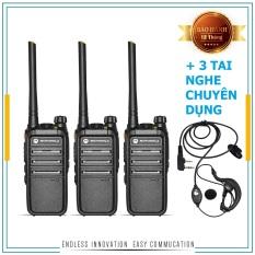 Bộ 3 Máy Bộ đàm Motorola CP318 + 3 Tai Nghe Chuyên Dụng