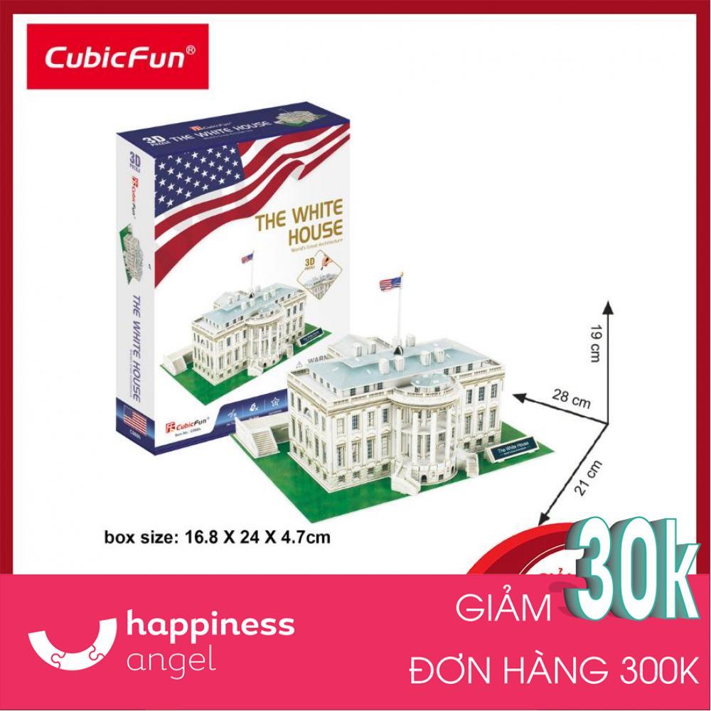 [GIẢI TRÍ+TRƯNG BÀY] Mô hình lắp ráp 3D Cubic Fun Nhà Trắng Mỹ ( Nhỏ) C060h