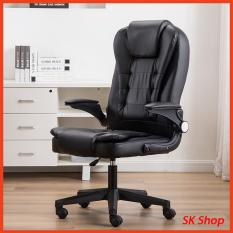 Ghế giám đốc [Ảnh Thật], ghế văn phòng , ghế xoay văn phòng cao cấp bọc da , ghế giám đốc bọc da tay gập 90 độ YIRUITE