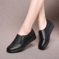 Giày nữ da bò đế bệt giày lười cho bà cho mẹ trung niên mã 9107