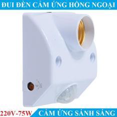 Đui đèn thông minh bật tắt tự động cảm biến ánh sáng cảm biến hồng ngoại 220V – 75W đui đèn cảm ứng đui đèn điề khiển từ xa