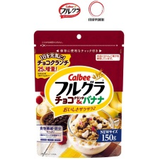 Date 11/21 Ngũ cốc trái cây Frugra Calbee Nhật Bản 150g Chocolate