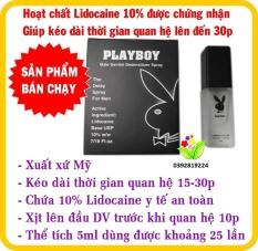 Chai Xịt Kéo Dài Thời Gian Playboy, Thiết Kế Nhỏ Gọn, Nắp Xịt Sang Trọng, Chai Xịt Ngoài Da Không Tác Dụng Phụ