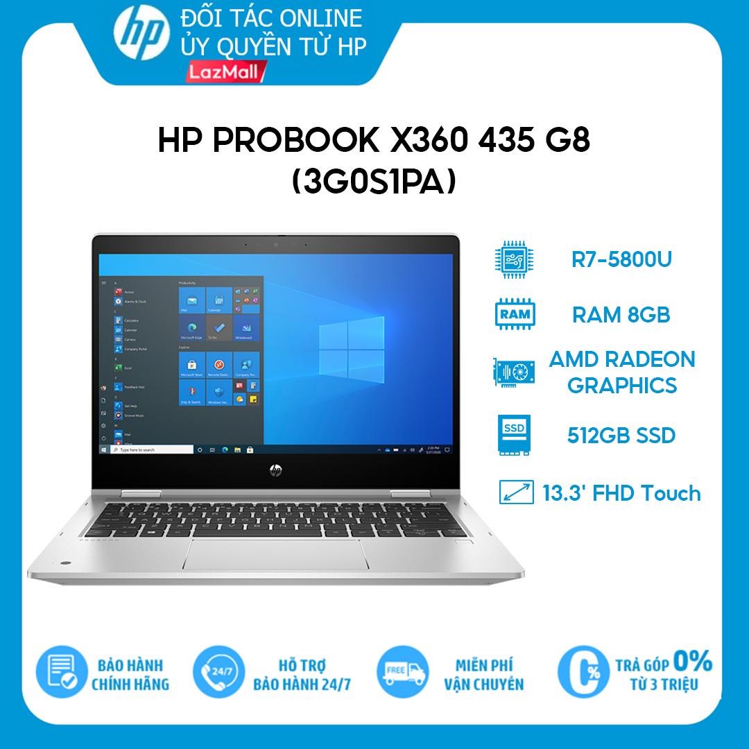 [Trả góp 0%] Laptop HP Probook X360 435 G8 3G0S1PA R7-5800U | 8GB | 512GB | AMD Radeon Graphics | 13.3′ FHD Touch | Win 10