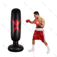 Trụ tập đấm đá Boxing BƠM HƠI 1.6m , bao tập võ PVC di động gấp gọn cao cấp – POKI