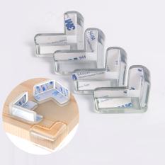 Combo Bộ 4 Miếng Dụng Cụ Silicone Chặn Và Bịt Góc Bàn Tủ Cửa Bảo Vệ Bé Legaxi