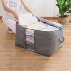 Túi vải to kích thước 60 x 40 x 36cm không dệt đựng quần áo chăn màn tiện dụng đồ dùng gia đình tiện ích nhỏ gọn dễ cất xếp VHT008958