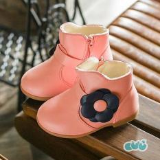 Boot cổ thấp da bóng cho bé gái