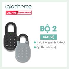 [COMBO 2 TRONG 1] Ổ Khóa Thông Minh Igloohome – Silicon bảo vệ – Padlock – Sử Dụng Bluetooth, Mã Pin, Tự Động Báo Qua App Điện Thoại – Hàng Phân Phối Chính Hãng – IG003