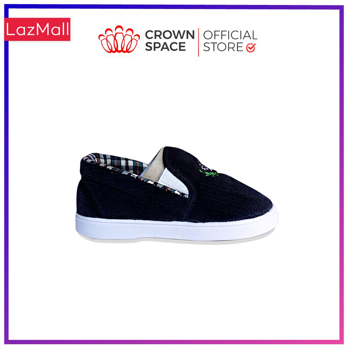 Giày Vải Tập Đi Cho Bé Trai Bé Gái Đẹp Crown UK Royale Baby Walking Shoes Cao Cấp 032822 Nhẹ Êm Size 3-6/1-3 Tuổi
