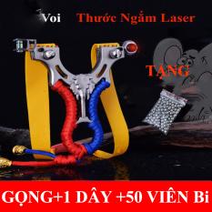 Đồ chơi Tuổi thơ, Cây giữ Dây Thun Cao Su (Voi lade), có sẵn 1 dây ,thước ngắm,lade-tặng kèm 50 Viên Bi