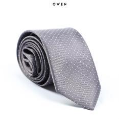 Cravat Owen màu xám chấm bi 6cm CAV91156