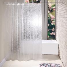 Rèm phòng tắm loại 12 móc cao 1.8m TRONG SUỐT