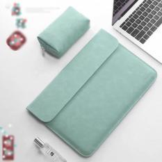 Bao da, túi da chống sốc cho Macbook, Laptop 13.3 inch kèm ví đựng phụ kiện (Macbook Air 13.3 inch đời 2017 về trước/ Macbook Pro 13.3 inch đời 2015 về trước)