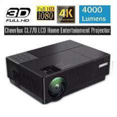 Máy chiếu FULL HD 1920x1080P Cheerlux CL770 hỗ trợ Video 4K, đèn Led 175W, 4000 Lumens sáng rỏ, chức năng Zoom, điều chỉnh vuông hình tự động, phù hợp xem phim tại gia, cafe bóng đá, phòng họp.