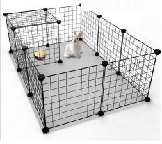 Miễn phí HCM>129k-(Combo 4 Mảnh lưới ghép 35x35cm kèm 8 chốt) quây chó đa năng, chuồng chó mèo lắp ghép kiêm kệ trang trí / chuồng ghép đa năng chó mè / chuồng thỏ / chuồng bọ